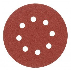 Abrasive disc set with holes (with velcro) 08585