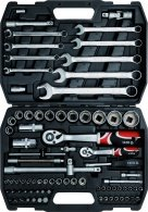 "Socket set 1/2"", 82 pcs YT-1269"