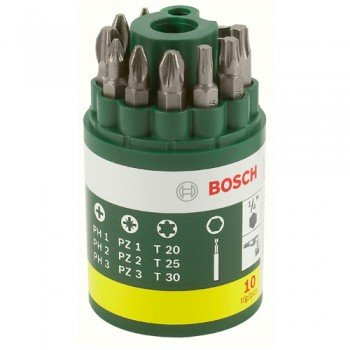 Bosch 10 Piece Screwdriver Set (Ph, Pz, Torx)