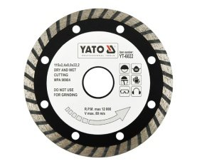 Diamond blade, turbo 115 mm