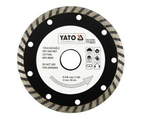 Diamond blade, turbo 125 mm