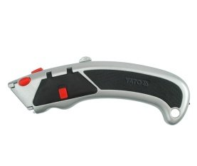 Cutter knife with LED light + spare blades YT-7522