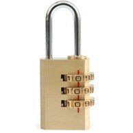 Brass combination padlock 77607