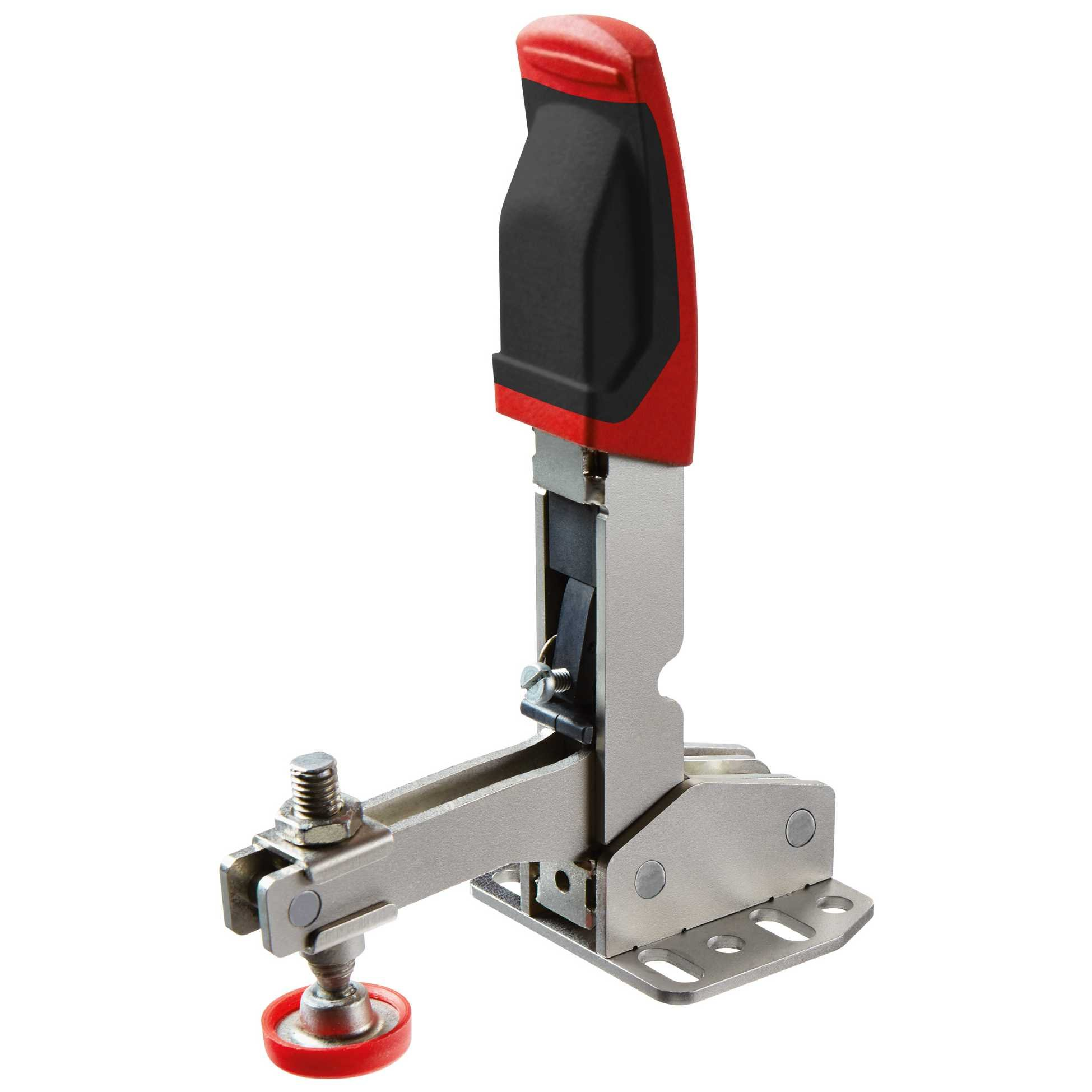 Vertical toggle clamp with open arm and horizontal base plate STC-VH20