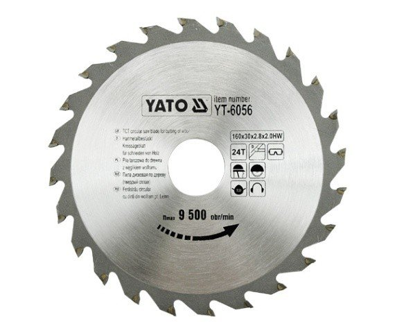 Tct circular saw blade for aluminium 200x30x60 mm